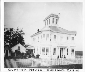 Gunther's mansion on Indian Island: HSU Photo Archives