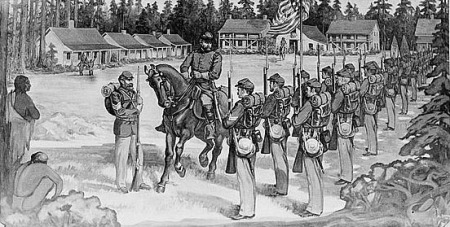 Fort Humboldt, intially established to protect the settlers, became a temporary haven for the Natives