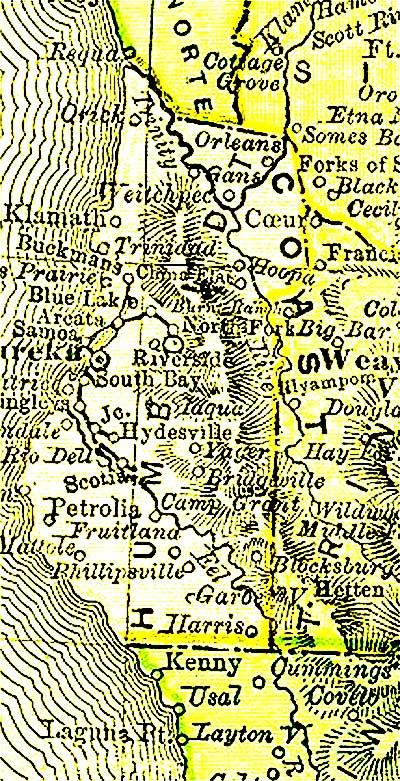 1895 Humboldt Map