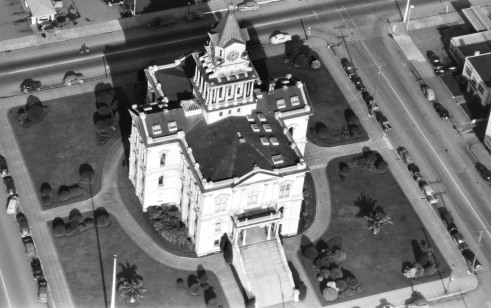 Aerial Shot of old courthouse