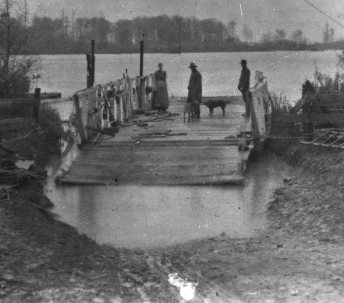 Ferry, possibly crossing the Eel River
