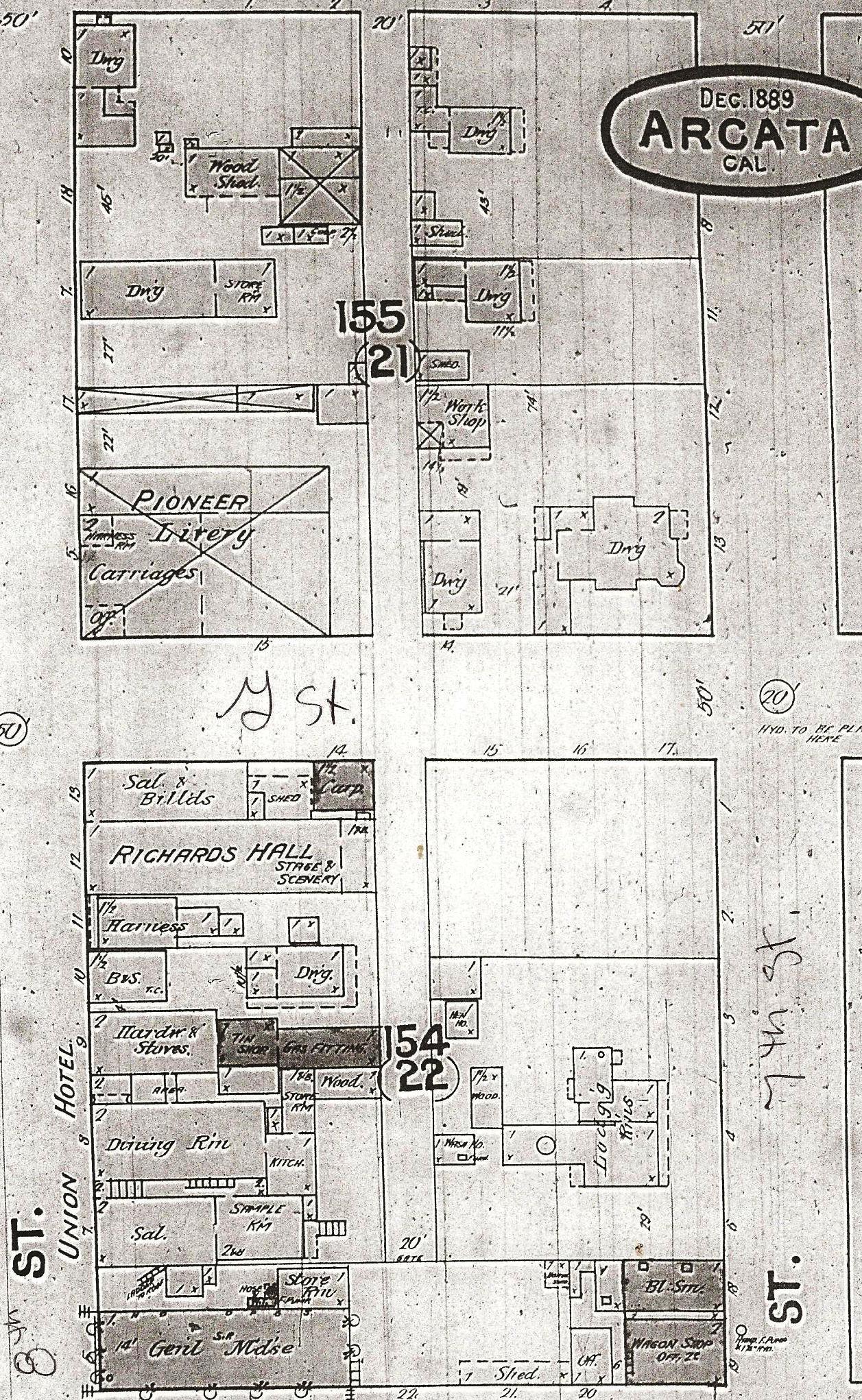 Old Arcata California Maps Lynette S Norcal History Blog