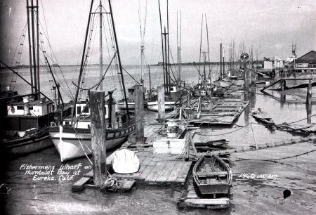 Eureka Wharf [Source: Humboldt State University-Palmquist/Yale Collection]