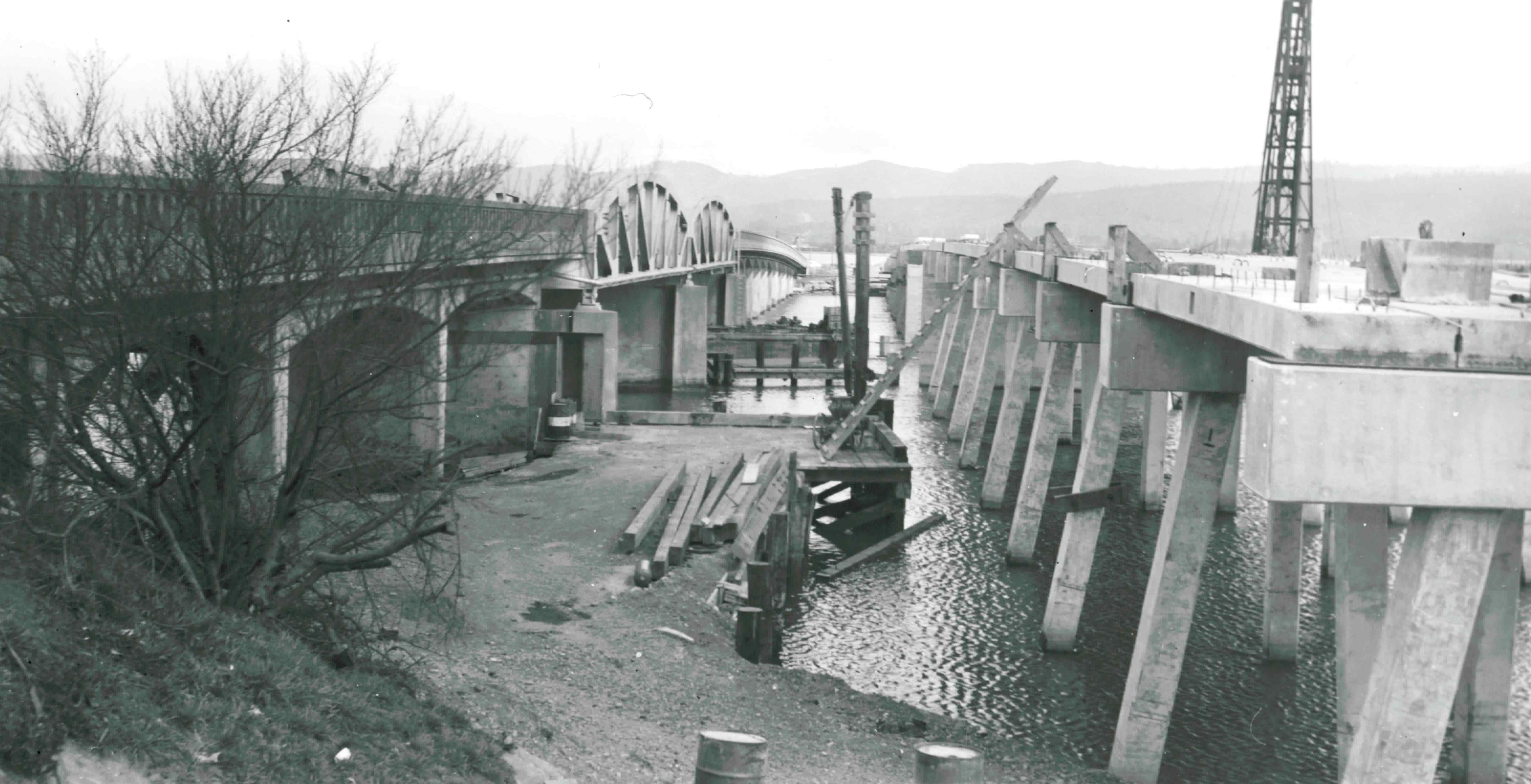 Bridge Construction, North of Eureka, CA