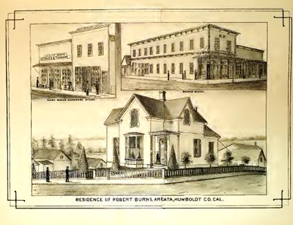 Arcata 1881 Source: History Of Humboldt County,Elliott