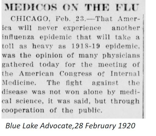 SpanishFlu.NeverAgain.BlueLakeAdv.Feb28.1920